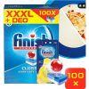 Tablety do myčky FINISH Classic Lemon 100ks + DEO Lemon (5997321733807) + ZDARMA Sada SPONTEX smetáčková souprava