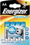 Porovnat ceny ENERGIZER Alkalické tužkové batérie Maximum LR6 / 4 4xAA 35035755