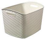 Porovnat ceny CURVER úložný box XL RATTAN Y STYLE, 43 x 34 x 29 cm, krémová, 03609-885