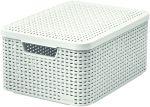 Porovnat ceny CURVER úložný box RATTAN M, 39,3 x 29,3 x 18,7 cm, biely, 03618-885