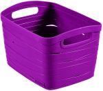 Porovnat ceny CURVER úložný box RIBBON S, 18 x 26 x 21 cm, 8 l, fialová, 00718-437