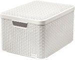 Porovnání ceny CURVER Úložný box RATTAN L, 44,5 x 24,8 x 33 cm, krémový, 03619-885