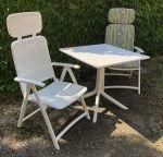 Porovnání ceny Nardi Zahradní sestava Clip 2+1, stůl 80x80cm - Zahradní nábytek