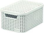 Porovnat ceny CURVER úložný box RATTAN S, 29,1 x 19,8 x 14,2 cm, biely, 03617-885