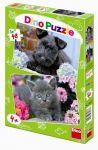 Porovnat ceny neuveden Pejsek a Kočička - puzzle 2 motivy v balení 2x48 dílků
