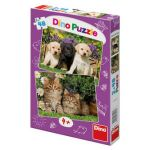 Porovnat ceny neuveden Mazlíčci - puzzle 2x48 dílků