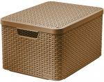 Porovnání ceny CURVER úložný STYLE BOX s víkem L, 44,5 x 24,8 x 33 cm, hnědý, 03619-213