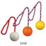 Porovnání ceny Trixie Vrhací míč hrbolatý na šňůře 6cm/30cm 1ks