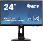 Porovnat ceny 24'' LCD iiyama XUB2492HSU-B1 -IPS, 5ms, 250cd/m2, 1000:1 (5M:1 ACR), DP, USB hub, HDMI, repro, pivot