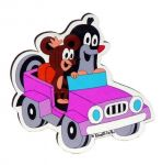 Porovnání ceny Dřevěné dekorační magnetky - magnetka Krtek v autě - DoDo manufaktura