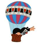 Porovnání ceny Dřevěné dekorace - Velká dekorace Krtek v balónu - DoDo manufaktura