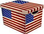 Porovnat ceny CURVER box úložný dekoratívny L AMERICAN FLAG, 39,5 x 24,0 x 29,5 cm, 04711-A33