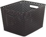 Porovnat ceny CURVER úložný box RATTAN MY STYLE L, 35 x 30 x 22 cm, tmavo hnedý, 03612-210