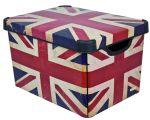 Porovnat ceny CURVER box úložný dekoratívny L BRITISH FLAG, 39,5 x 29,5 x 24 cm, 04711-D99