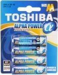 Porovnání ceny TOSHIBA Alkalická baterie LR6 4BP AA Alpha 35040095