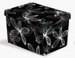 Porovnat ceny CURVER box úložný dekoratívny S BLACK LILY, 13,5 x 29,5 x 19,5 cm, 04710-D66