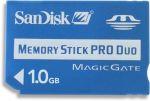 Porovnání ceny SanDisk MemoryStick PRO Duo 1GB