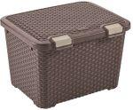 Porovnat ceny CURVER ratanu styl úložný box, 49 x 40 x 34 cm, 43 l, hnědý, 00711-210