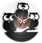 Porovnání ceny Designové nástěnné hodiny Discoclock 004 Tři moudré sovy 30cm