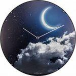 Porovnání ceny Designové nástěnné luminiscenční hodiny Nextime 3177 New Moon 35cm