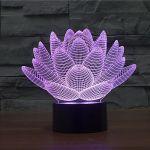 Porovnání ceny SHARKS 3D LED lampa Lotosový květ SA096