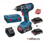 Porovnání ceny BOSCH GSR 18-2-LI Professional aku vrtačka 3x 18V/2.0Ah LiIon, kufr L-Boxx 0615990HU9