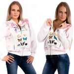 Porovnat ceny V&V Dámska mikina Just Butterfly - biela (L) - V&V