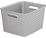 Porovnat ceny CURVER úložný box RATTAN Y STYLE L, 35 x 30 x 22 cm, strieborný, 03612-08
