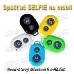 Porovnat ceny Diaľkový bezdrôtový bluetooth ovládač na selfie - žltý