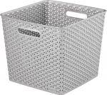 Porovnat ceny CURVER úložný box RATTAN MY STYLE Square, 32,5 x 33,5 x 28 cm, strieborný, 03613-087