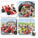 Porovnat ceny Detské puzzle Gabinova formula 1 Janod 6-9-12-16 dielov 02884