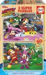 Porovnat ceny Drevené puzzle pre deti Mickey and the roadster racers Educa Disney 2*50 dielov EDU17236