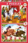 Porovnat ceny Educa detské puzzle Preteky koníkov 2x48 dielov 17150