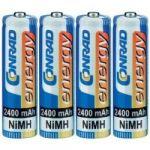 Porovnání ceny Akumulátor Conrad energy, NiMH AA, 2400 mAh, 4 ks