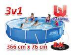 Porovnání ceny Zahradní bazén bestway 366 x 76 cm 3 v 1 56416
