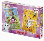 Porovnat ceny neuveden Krkouni - puzzle 2 motivy v balení 2x48 dílků