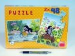 Porovnat ceny Puzzle Krtek 26,4x18,1cm 2x48 dílků v krabici 27x19x3,5cm