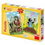 Porovnat ceny Puzzle Krtek na Mýtině 2x48 dílků v krabici 27x19x3cm