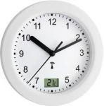 Porovnání ceny Analogové DCF nástěnné hodiny do koupelny TFA 60.3501, Ø 17,5 x 5,5 cm, bílá
