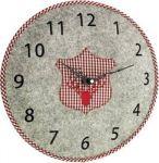 Porovnání ceny Quartz nástěnné hodiny TFA Filz-Wanduhr 60.3025.10, Ø 330 mm, šedá