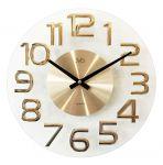 Porovnání ceny Luxusní kovové skleněné zlaté designové hodiny JVD HT098.1