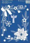 Porovnání ceny Anděl Přerov Okenní fólie Slaměnky, Vánoční růže rohová bílá 33x23 cm DOPRODEJ