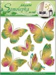 Porovnání ceny Anděl Přerov Samolepka Room Decor motýli zelenooranžoví s pohyblivými zlatými křídly 30x30cm