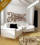Porovnání ceny Shopnisi Samolepka na zeď Nápis na stěnu - Coffee, 120 x 48 cm