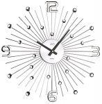 Porovnání ceny Luxusní paprskovité kovové nástěnné hodiny JVD HT074 s kamínky