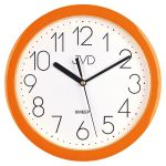 Porovnání ceny Moderní oranžové dětské nástěnné netikající tiché hodiny JVD sweep HP612. 11
