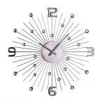 Porovnání ceny Luxusní paprskovité kovové černé antracitové hodiny JVD HT074.2
