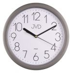 Porovnání ceny Plastové netikající tiché hodiny JVD sweep HP612.7 - metalická stříbrná