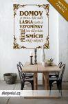 Porovnání ceny Shopnisi Samolepka na zeď Nápis na stěnu - Domov je místo