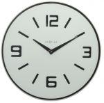 Porovnání ceny Nástěnné hodiny Shuwan 43 cm bílé - NEXTIME
